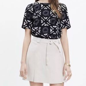 MADEWELL BATIK GRID BUTTON BACK BLOUSE INDUSTRY S